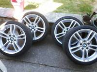 """Bmw m sport alloys staggered 18"""""""