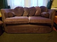 Low price for quick sale must go soon 3&2 seater purple sofa/couch