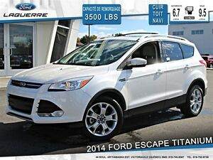 2014 Ford Escape **TITANIUM*CUIR*TOIT*NAVI*CAMERA*CRUISE*A/C 2 Z
