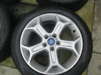 "ford focus mondeo transit connect 17"" alloy wheels all tyres are like new"