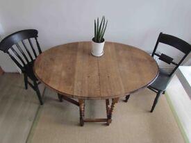 Oak Gateleg Barley Twist Dining Table