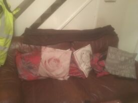 Three piece suite leather