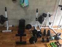 Weights and fitness equipment. Your own gym. Deposit taken.
