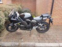 Black Hyosung GT 125R - Very Good Condition