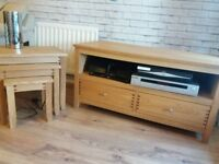 TV Cabinet and matching nest of tables.
