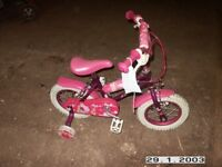 Fairy dust childs bike with stabalizers