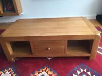 Beautiful chunky solid oak coffee table.