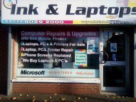 Professional Computer & Laptop Repair Fully Insured Microsoft Partner 12 Months Warranty