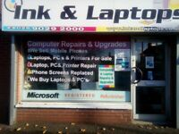 Professional Computer & Laptop Repair Fully Insured Microsoft Partner 12 Months Warranty