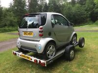 Smart car with Trailer