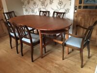 2 IKEA WOODEN DINING TABLES WITH 6 CHAIRS