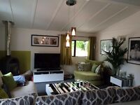 Fully furnished 40x20' with 9x8' extension two bedroom park home for sale in aberdeenshire Scotland