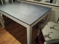 Kitchen / Dining Extendable Table Shabby Chic+ 2 Chairs