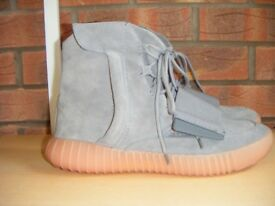Used Adidas Yeezy boost 750 smoke grey trainer size 9