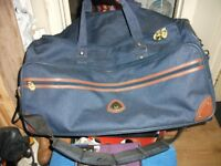 LARGE GLOBE TROTTER WEEKEND PIONEER BAG WITH SHOULDER STRAP,ALMOST NEW