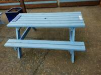 4 x solid wood outside garden / pub benches
