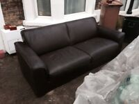 Sofa, leather, comfy