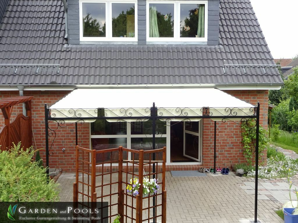 terrassen berdachung markise pergola carport metall. Black Bedroom Furniture Sets. Home Design Ideas