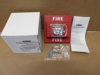 New Faraday 2700b1424 Red Fire Alarm Stand Alone Strobe