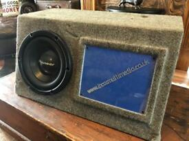 "Pioneer 10"" sub woofer bass box"