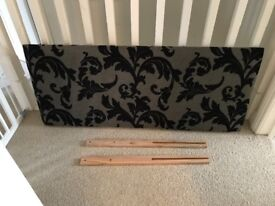 Black and grey double headboard