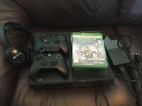 Xbox One with 2 controllers, 4 games and headset