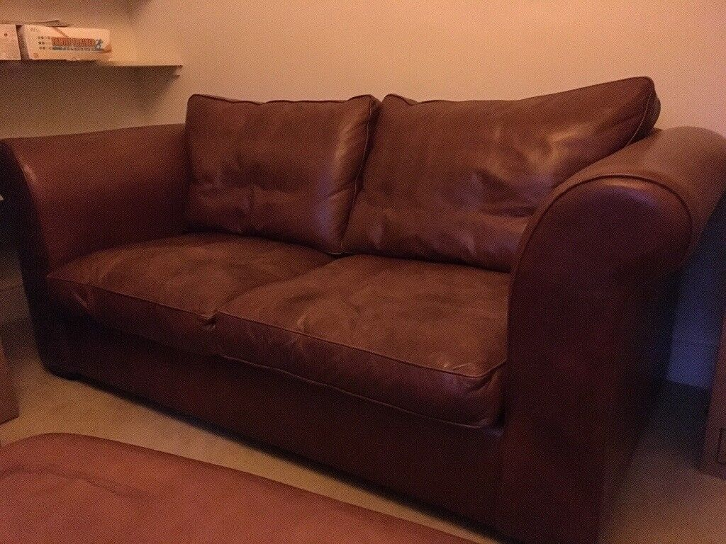 Laura Ashley 2 Seater Leather Sofa In Hammersmith
