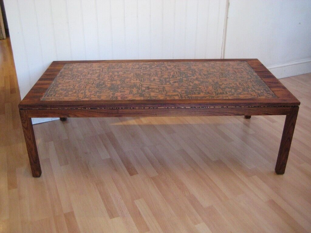 Stunning Large Copper Topped Retro Mid Century Danish Teak Coffee Table 1960s 1970s In Clapham London Gumtree