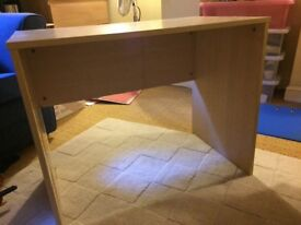 Small pine effect desk