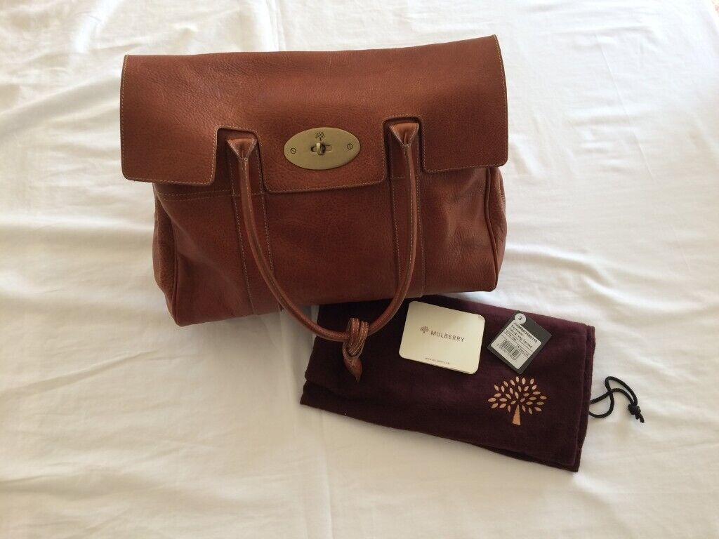 4df66d4fc0 Mulberry Bayswater Heritage Natural Tanned Leather Handbag Oak-Brass