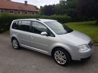 Volkswagen Touran SE TDI 7 Seater (complete with detachable towbar)