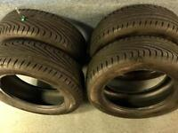 4 x Uniroyal Rainsport 3 Tyres 205-55-16 - Nearly New