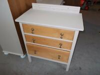 Small Oak Chest Of drawers Upcycled in Shabby Chic Style