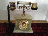 onix telmar 18k gold vintage phone
