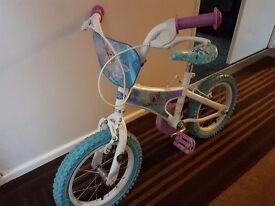Girls Frozen 14 inch Bike