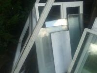 FREE!! UPVC WHITE PLASTIC DOUBLE GLAZED GLAZING FRAMES FOR SHED/ GARAGE+ VARIOUS GLASS SEALED UNITS