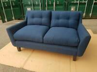 NEW Halston 2 Seater Sofa in Blue DELIVERY AVAILABLE