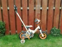 """Avigo 10"""" Robot Bike with parent handle"""