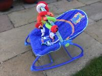 Fisher Price baby bouncer and toys