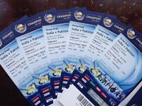 6 FAMILY STAND TICKETS PAKISTAN v INDIA ICC CHAMPIONS TROPHY 4 JUNE 2017 - 6 tickets only for £1150