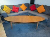 IKEA Retro Stockholm 'Surfboard' Walnut veneer coffee table
