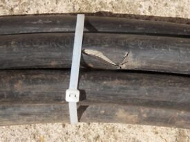Used heavy duty, armoured, three core electric cable.
