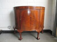 VINTAGE MAHOGANY BOW FRONTED CABINET CHEST SIDEBOARD UNIT WYLIE & LOCHHEAD GLASGOW FREE DELIVERY
