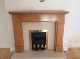 Oak fire place surround