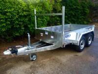 Car trailer 8x4 twin axle trailer dale kane fully road legal trailer