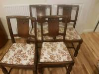 Solid wood 4 chairs