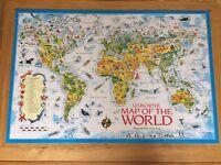 Map of the World Jigsaw, Usborne, 250 pieces