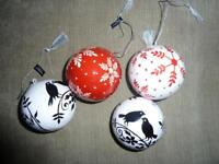 BRAND NEW - Osprey London hand painted baubles - worth £30