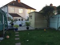 Heavy Duty 10ft x 7ft Timber Pent Shed