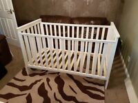 Mothercare white cotbed